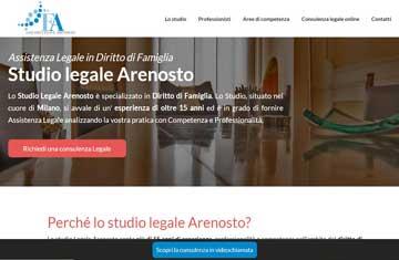 Immagine del sito dello studio legale Arenosto di Milano